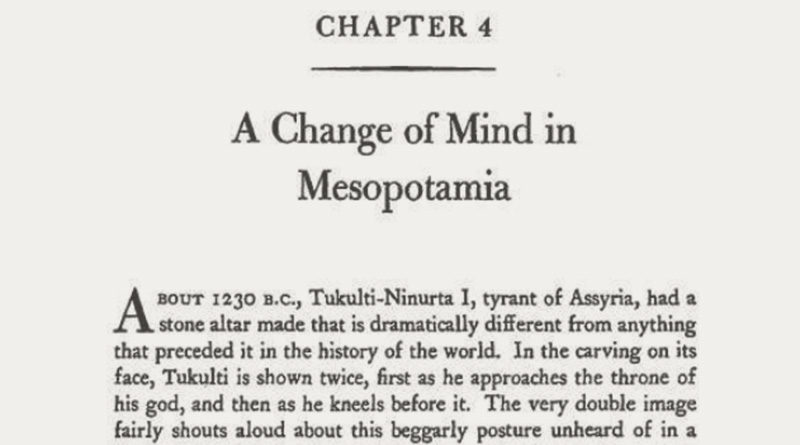 A Change of Mind in Mesopotamia