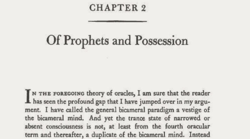 Of Prophets and Possession