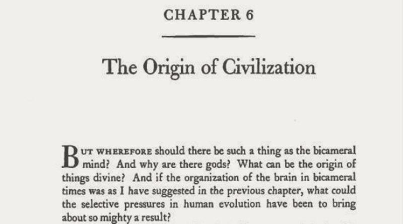 Origin of Civilization